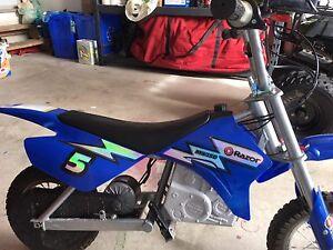 Razor battery powered dirt bike
