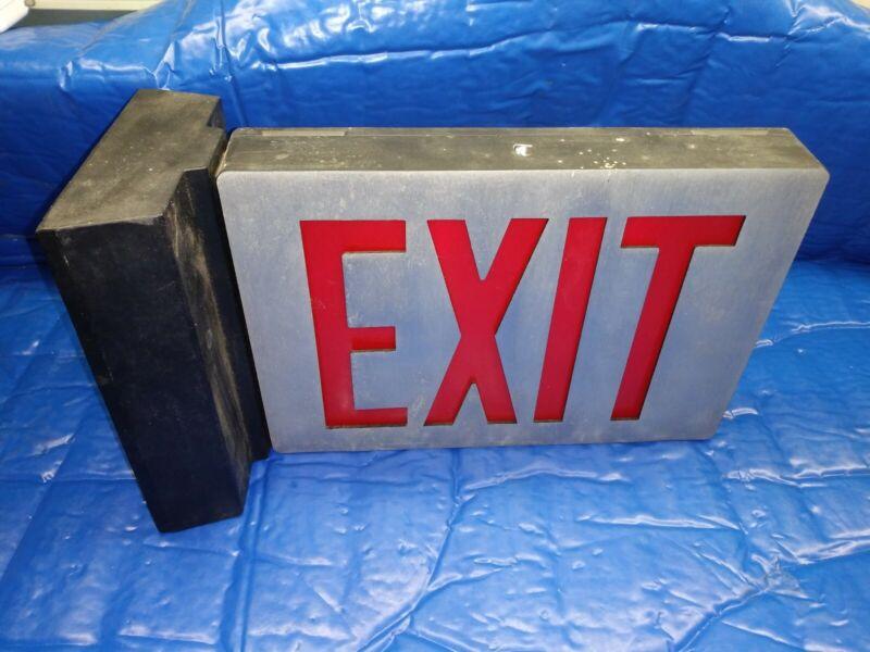 Vintage Exit Sign Metal Industrial Light for Office Building Business