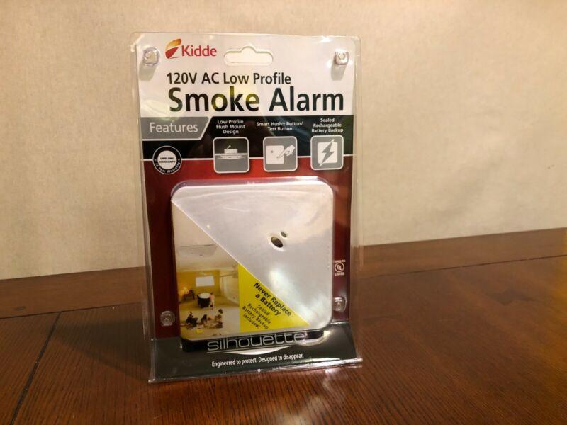 KIDDE 120V AC LOW PROFILE SMOKE ALARM SILHOUETTE FLUSH MOUNT KN-SMFM-i