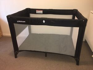 Childcare 3 in 1 Travel Cot Black