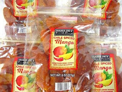 Trader Joe's Chile Spiced Mango Dried Fruit 1 2 3 4 5 Bag Bags New & -