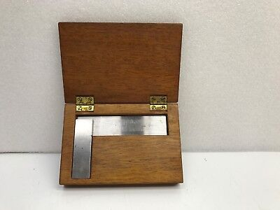 Vtg. Brown And Sharpe Model 540 Square W Wood Box