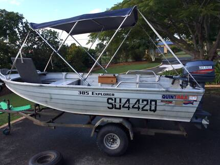 Quintrex 3.85m Explorer with 30hp Yamaha Conondale Maroochydore Area Preview