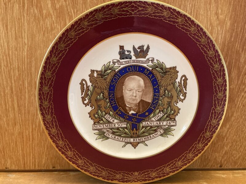 Sir Winston Churchill Spode Porcelain Limited Edition Commemorative Plate #1558