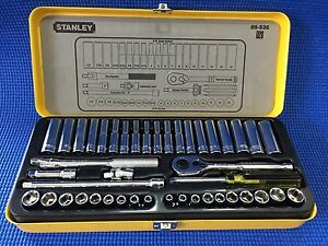 "Stanley 44pc 1/4"" Socket Set (Metric & Imperial) Brunswick East Moreland Area Preview"