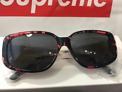 SUPREME Royce Sunglasses Red Tortois Made in Italy SS17 Brand New