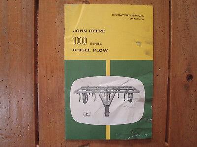 John Deere 100 Series Chisel Plows Operator's Manual
