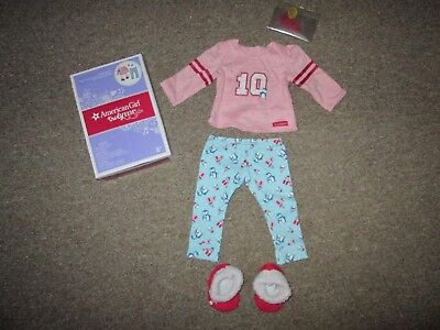 Authentic AMERICAN GIRL DOLL HOLIDAY PENGUIN PJS PAJAMAS OUTFIT CLOTHES NEW Lea (Holiday Penguin)