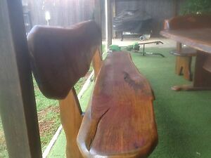 Massive hand crafted timber wooden outdoor setting Green Valley Liverpool Area Preview