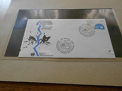 Briefmarken UNO Marken auf FDC Genf Privatverkauf