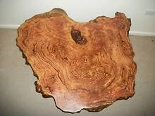 SPOTTED GUM Hardwood timber BURL slab coffee table & mallee stump Panania Bankstown Area Preview