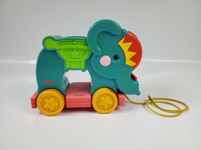 Fisher Price Rare!/Vintage Elephant Pull Toy. Elephant only! Music plays.