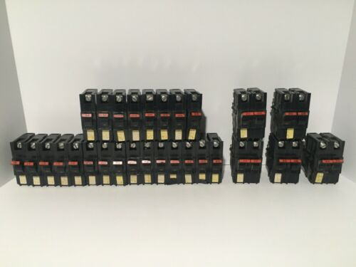 Lot of Federal Pacific Stab-lok Circuit Breakers 120v type NC 1&2 pole