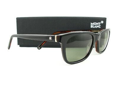 Mont Blanc Sunglasses MB507/S Black Tortoise Green Polarized 01N New (Mont Blanc Polarized Sunglasses)