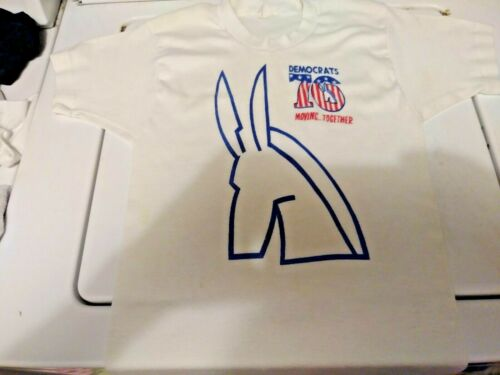 Vintage Democratic 1976 Moving Together T Shirt, One of a Kind b