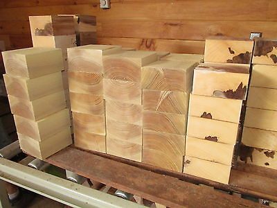 "FOUR (4) BOWL BLANKS: MAPLE, CHERRY, LOCUST, RED ELM TURNING WOOD 6""x6""x3"""