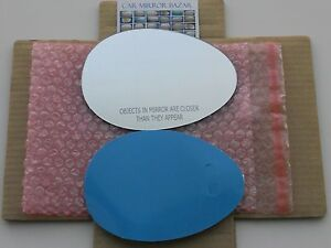 779RC 07-15 MINI COOPER Mirror Glass +FULL SIZE ADHESIVE Passenger Side SEE NOTE