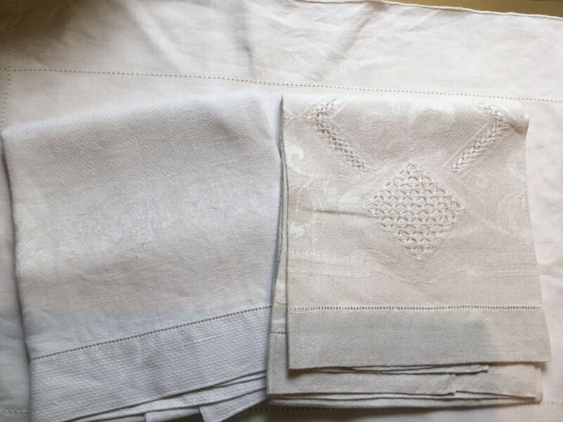 2 Antique Hand Towels