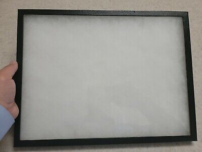 Flat Thin Glass Top Display Case Specimen Mount Jewelry Medals Smalls 12x16