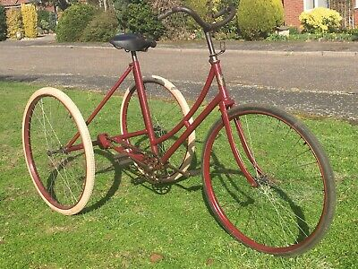 1899-1900 Rudge-Whitworth Ladies Tricycle Vintage Antique Veteran Bicycle 91447
