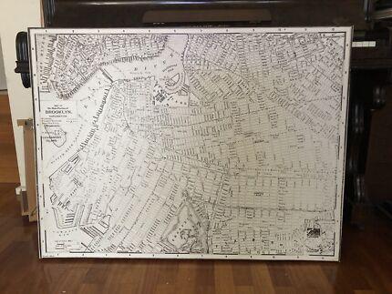 Map of Brooklyn Canvas Artwork