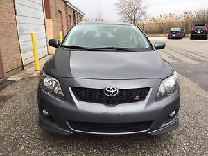 2009 Toyota Corolla S with two years powertrain warranty