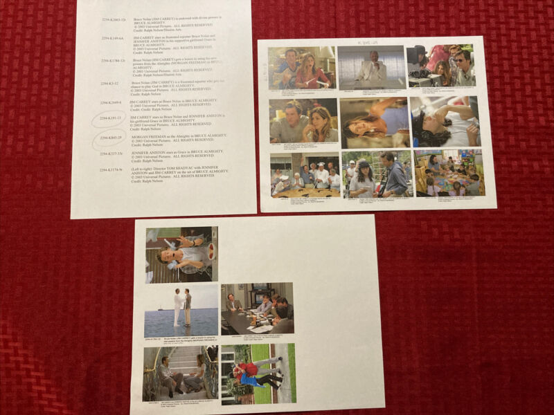 Bruce Almighty Press Photo Guide 2003 Carrey Aniston Freeman