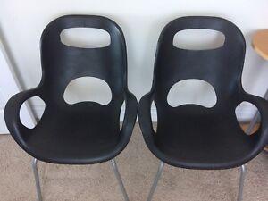 2 modern decor chairs