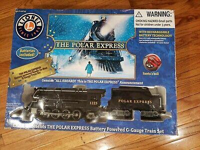 Lionel Polar Express Battery Train Set G Gauge 7-11022 Christmas Train Set