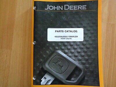 John Deere 450j 550j 650j Crawler Tractor Factory Parts Catalog Manual Pc9387