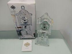 NEW Godinger Crown Crystal Grandfather Clock W/Pendulum