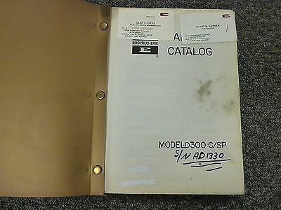Bucyrus-erie 300c Crawler Crane Dragline Shovel Parts Catalog Manual Book