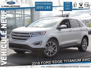 2018 Ford Edge TITANIUM**AWD*CUIR*TOIT*GPS*CAMERA*BLUETOOTH**