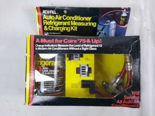Acu-Fill Auto Air Conditioner Refrigerant Measuring and Charging Kit Vintage S4