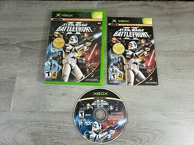 MICROSOFT ORIGINAL XBOX VIDEO GAME STAR WARS BATTLEFRONT 2 II COMPLETE RATED T