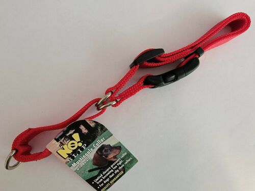 No Slip Martingale Dog Collar Size Large 22 Red NEW WITH TAGS - $11.95