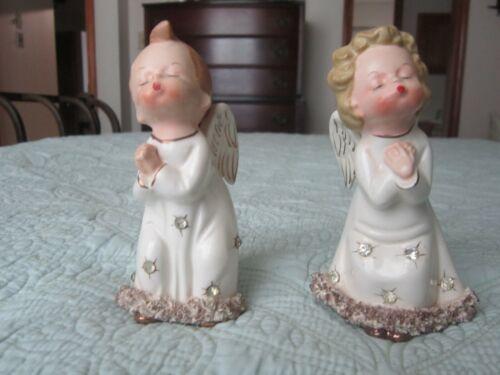 Vintage Kissing Angels Figurines - Made in Japan