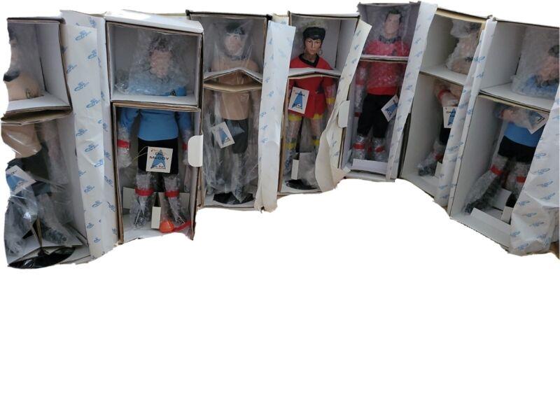 7 Star Trek Doll Collection 1988 Hamilton Porcelain Dolls COMPLETE SET W/ BOXES