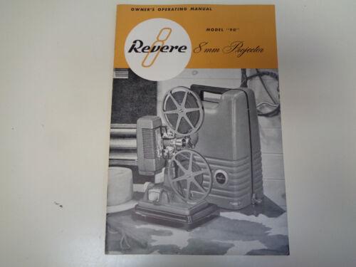 Vintage Original 1949 Revere 8mm Film Projector Instruction Manual Booklet