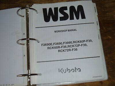 Kubota Rck60-p-f39 Rck60r-f36 Mower Deck Shop Service Repair Manual