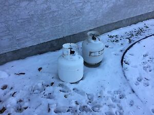 Two propane tanks for bbq
