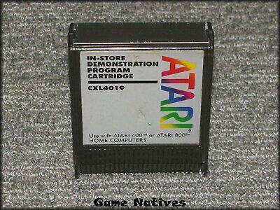 In-Store Demostration Program Cartridge CXL4019 - Atari 400 800 - SHIPS FREE!
