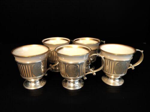 Lenox Sterling Silver Demitasse Cups Set of 5