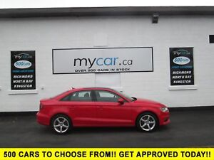 2015 Audi A3 1.8T Komfort LEATHER, SUNROOF, HEATED SEATS!!