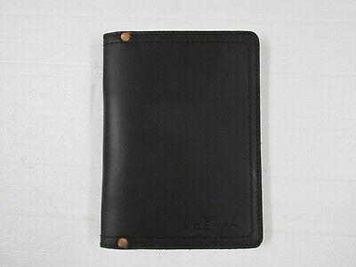 Saddleback Leather Leather Portfolio Black Small With Script Logo