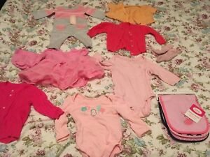 Cute baby girl clothing 0 to 6 months
