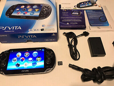 PlayStation PS Vita-1101 Oled Black 1.06 FW Excellent Condition In Box