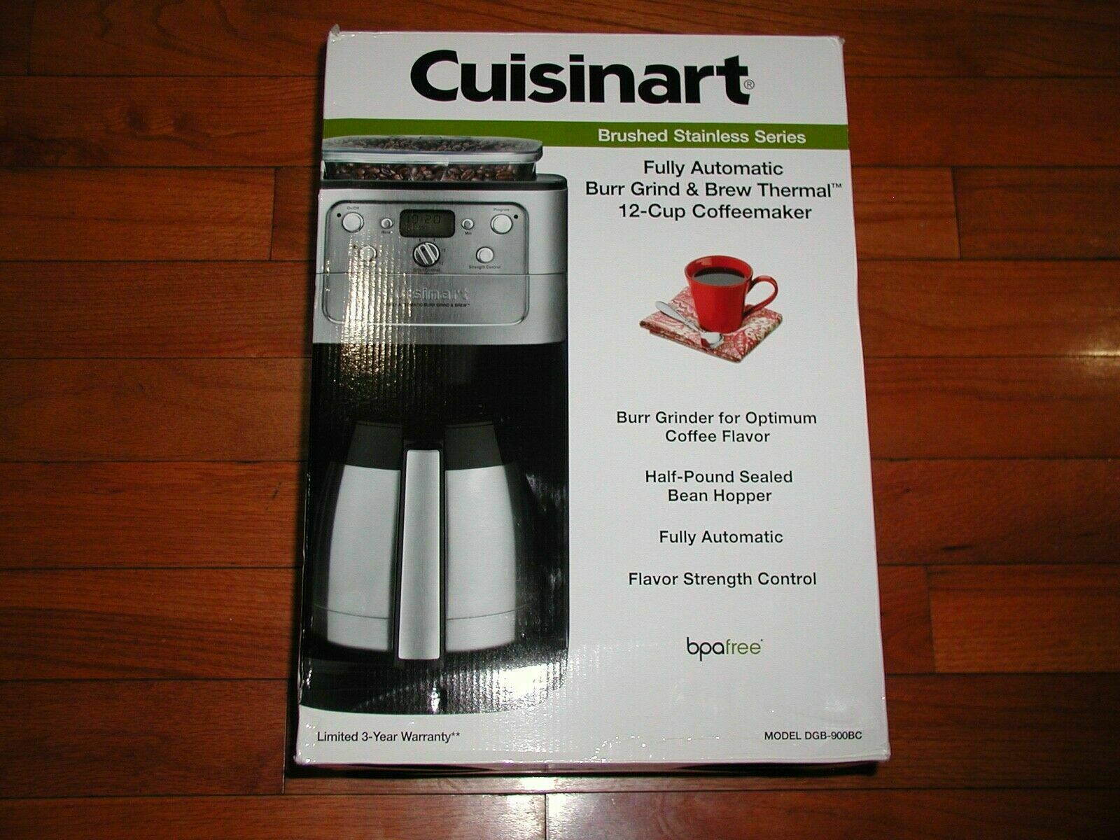 Cuisinart 12 Cup Grind and Brew Coffee Maker DGB-900BC DGB90