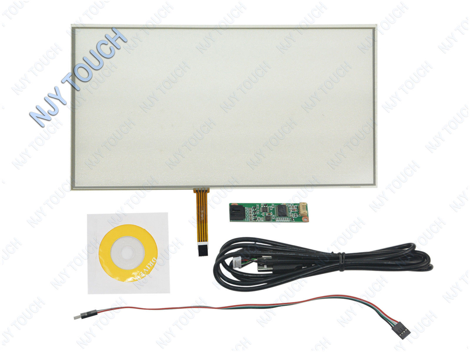 """15.4"""" 4 Wire Film to Film Resistive Touch Screen Panel USB Controller 345x223mm"""