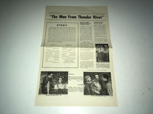 MAN FROM THUNDER RIVER Movie Press Sheet Wild Bill Elliott Western Pressbook 50s